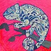 Happy Iguana Art Print
