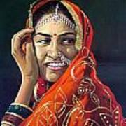 Happy Indian Women Art Print