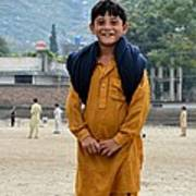 Happy Laughing Pathan Boy In Swat Valley Pakistan Art Print