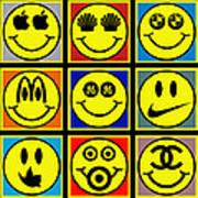 Happy Logos Art Print