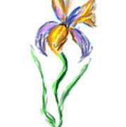 Happy Mother's Day Iris Art Print