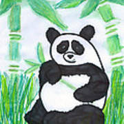 Happy Panda O.o. Art Print