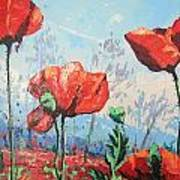 Happy Poppies  Art Print by Andrei Attila Mezei