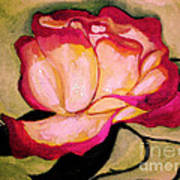 Happy Red Rose Art Print by Sidney Holmes