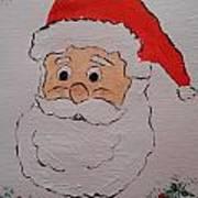 Happy Santa Claus Art Print