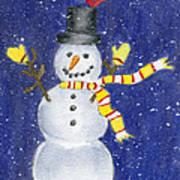 Happy Snow Art Print