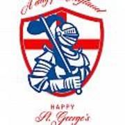 Happy St George A Day For England Greeting Card Art Print by Aloysius Patrimonio