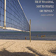 Happy Volleyball Goal Art Print