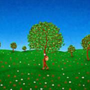Happy Walking Tree Art Print