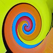 Happy Swirl Art Print