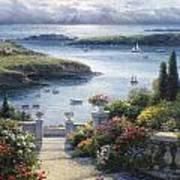 Harbor Garden Art Print by Ghambaro