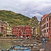 Harbor In Vernazza Art Print