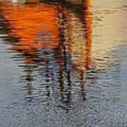 Harbor Reflecting Art Print