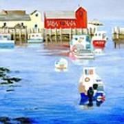 Harbor Scene Art Print
