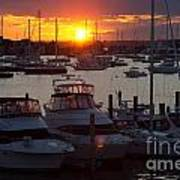 Harbor Sunset Art Print