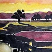 Harbour Town Dusk Sc Art Print