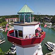 Harbor Town Lighthouse In Hilton Head Art Print