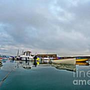 Harbour Overview 2 - Lyme Regis Art Print