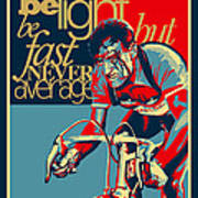 Hard As Nails Vintage Cycling Poster Art Print by Sassan Filsoof