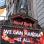 Hard Rock Cafe New York Art Print