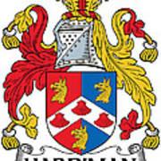 Hardiman Coat Of Arms Irish Art Print