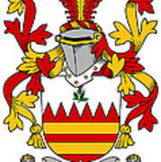 Hare Coat Of Arms Irish Art Print
