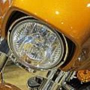 Harley Close-up Yellow 2 Art Print