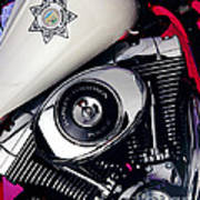Harley Cop 2 Art Print