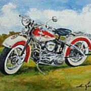 Harley Davidson 1943 Art Print