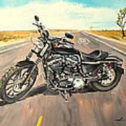 Harley Davidson 883 Sportster Art Print