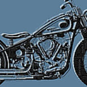 Harley-davidson And Words Art Print