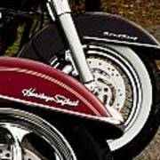 Harley Davidson Heritage Softail And Road King Art Print