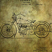 Harley Davidson Motorbike Patent  Art Print