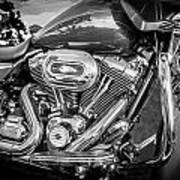 Harley Davidson Motorcycle Harley Bike Bw  Art Print