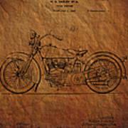 Harley Davidson Patent  Art Print