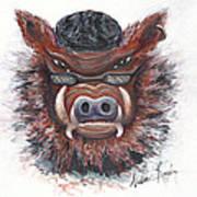 Harley Hog Art Print by Nadine Rippelmeyer