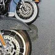 Harley Line Up Rain Art Print