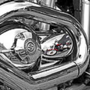 Harley Reflections Art Print