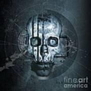 Harmagedon Blue-gray Art Print