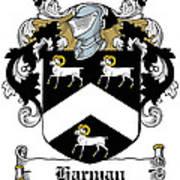 Harman Coat Of Arms Carlow Ireland Art Print