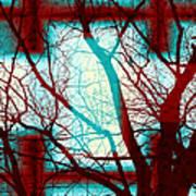 Harmonious Colors - Red White Turquoise Art Print