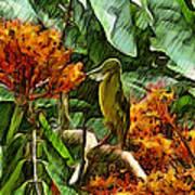 Harmoniously Green Art Print