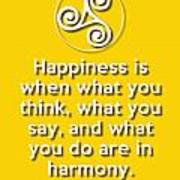 Harmony Yellow Art Print