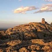 Harney Peak At Dusk Art Print