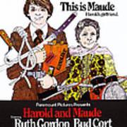 Harold And Maude, L-r Bud Cort, Ruth Art Print