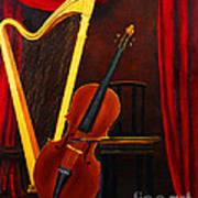 Harp And Cello Art Print