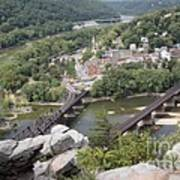 Harpers Ferry Viewed From Maryland Heights Art Print