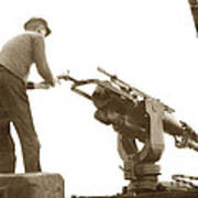 harpoon gun Moss Landing whaling Monterey Bay circa 1920 Art Print