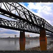 Harrahan Railroad Bridges Art Print