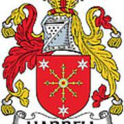 Harrell Coat Of Arms Irish Art Print